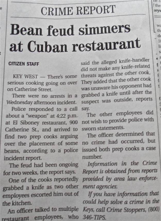 Key West Bean Feud