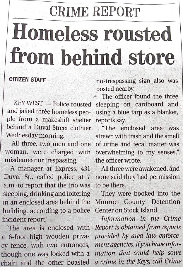 Key West Homeless