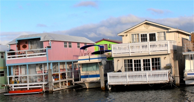 Key West houseboats. My friends, Vicky and Ian, whom I'm staying with, live in one of these