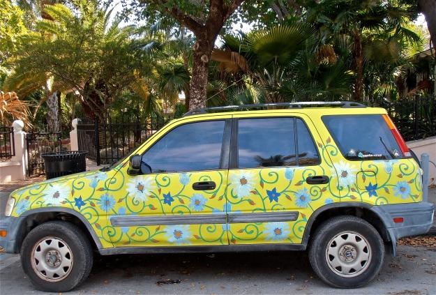 Key West Painted Car