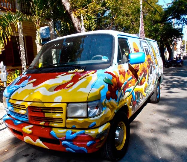 Key West Painted Van (front)