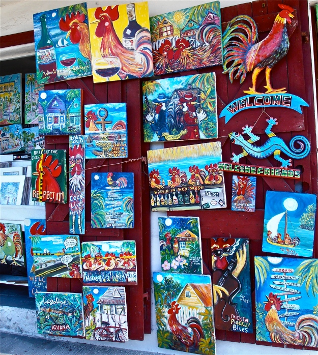 Key West Rooster Paintings