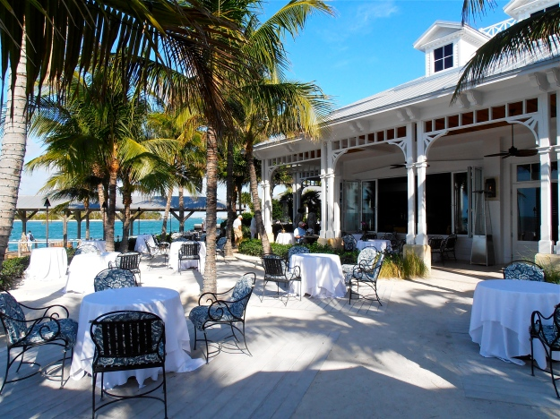 The terrace of Latitudes restaurant where we had our lunch