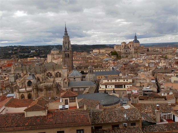 Taken from the citadel, with a view of Toledo Cathedral