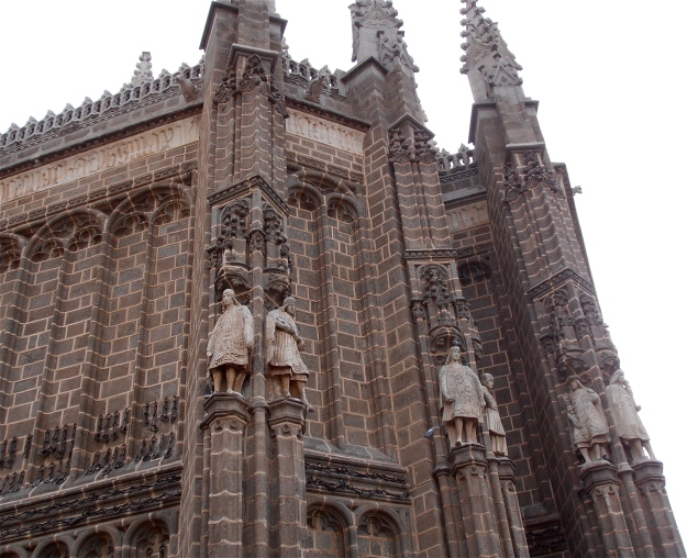 A more detailed look at part of the facade