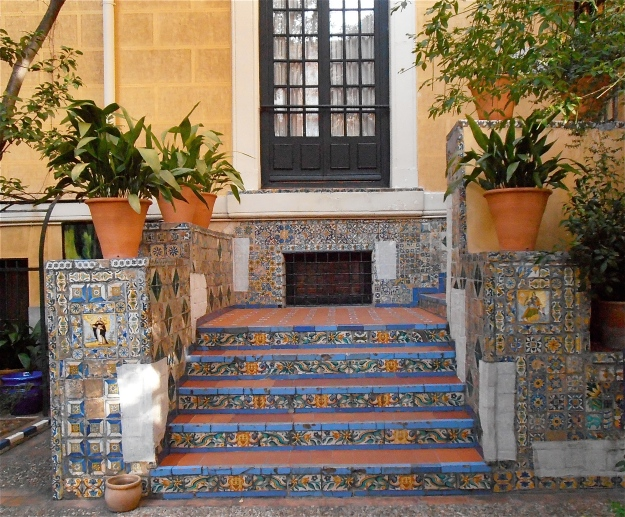 The steps leading up to the entrance of Sorolla's villa, now a museum