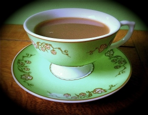 A lovely cuppa :) Pic taken by a British friend, of course!