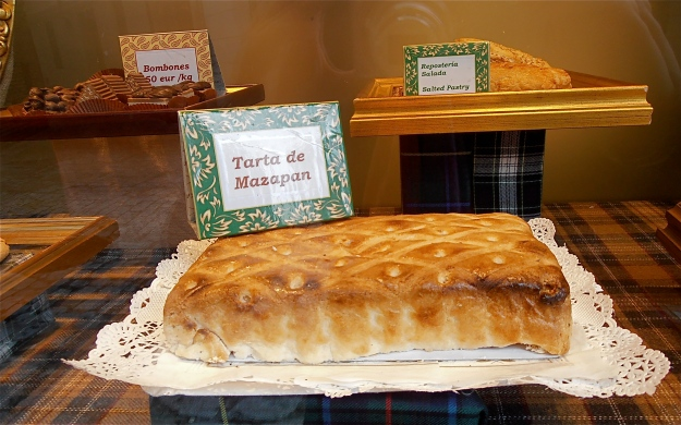 Toledo's famed marzipan cake. It is so sweet it makes all your teeth dissolve instantly...total bliss!!!