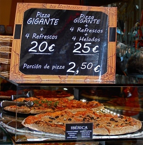 Why cough up €2.50 for an abstemious slice, when you can get twenty times as much food for only ten times the price?!