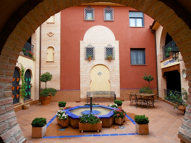 The patio (or inner courtyard) of the building where my friend lives