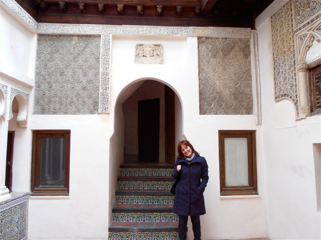 I took this one a few weeks ago. It's the patio of an historic building called Casa Del Judio (House of the Jew). My friend Olga (pictured) grew up here, and her mother still lives there