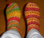 No PJ outfit is complete without auntie's kitted socks. They don't have to match