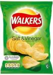 A bag of Walker's infamous salt and vinegar flavour. Warning for the uninitiated: The first acrid whiff from a freshly opened bag will knock you out