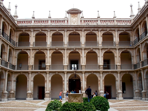 University interior courtyard