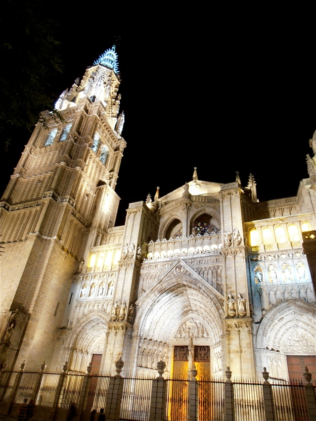 Toledo Cathedral by night