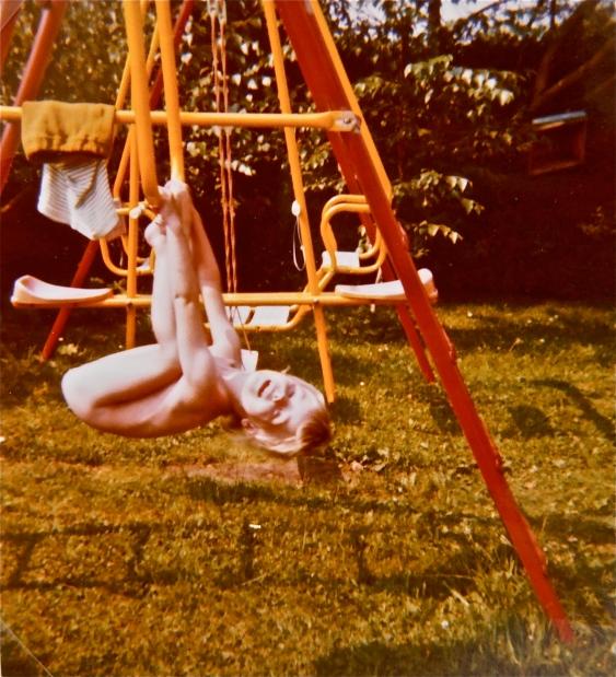 Swing set antics