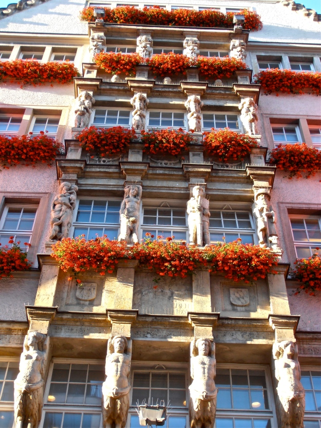 Windows of a Department store in the heart of Munich