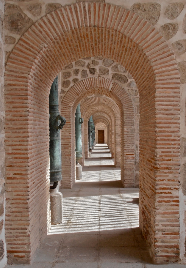 Walkway in the Alcázar (Fortification) of Toledo