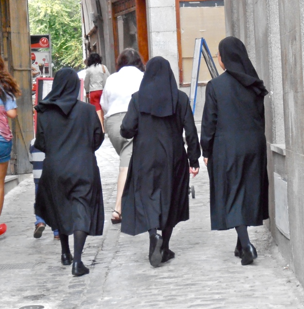 Toledo, being  home to an enormous number of convents, is Nun Central.