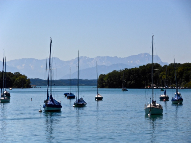 Lake Starnberg, Bavaria. Alps in the background.
