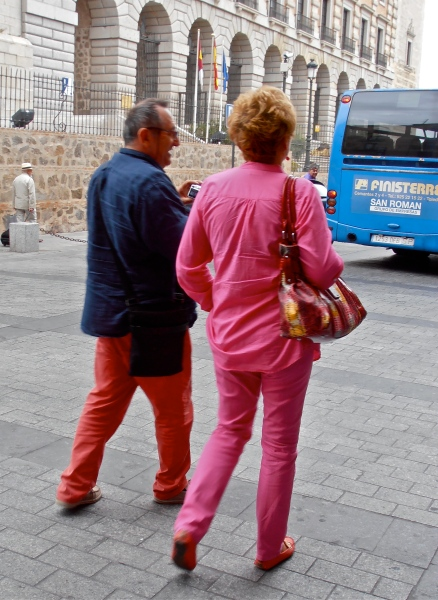 Couple pink wife