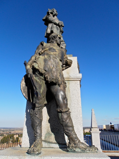Statue in Toledo outside the Alcázar (fortification)