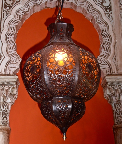 A lamp in the Syrian restaurant next door to my house