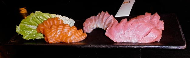 The sashimi was so fresh, it didn't smell in the least bit fishy. And it just melted in your mouth... divine!