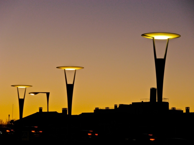 Sunset & Street Lamps 1