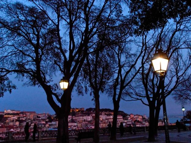 Lisboa Dusk Streetlamps