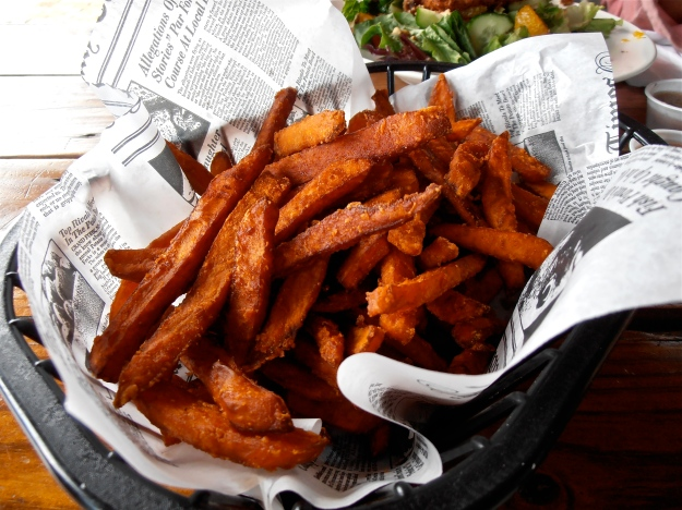 Aaaah, glorious sweet potato fries... they deserve a post of their own, really...