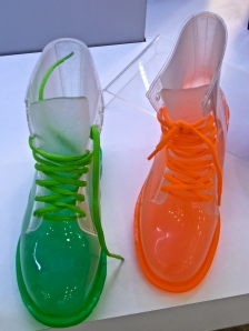See-through plastic lace-ups, anyone...?