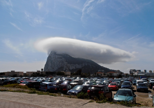 "And a ""rock"" it is. It even has its own weather! And what weather... what more proof do you need that Gibraltar is, in fact, British!?"