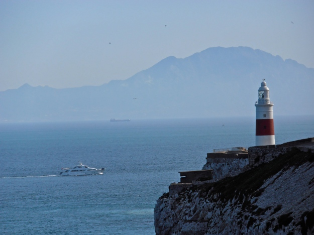 Gibraltar lighthouse. That's Africa in the background.