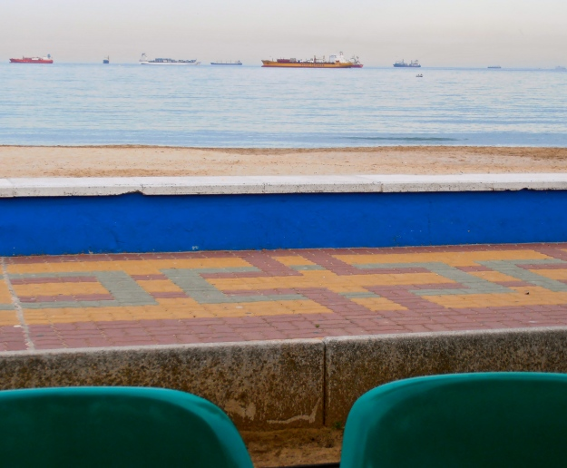 Language. Levels. Layers. Depth. Perspective. New Horizons. [Pic taken last week at Algeciras seafront]