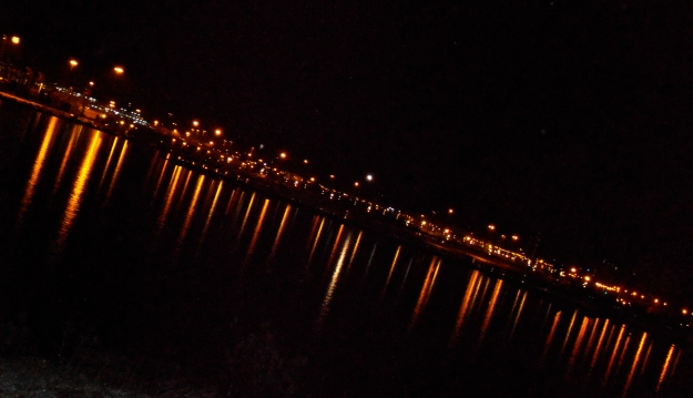 Algeciras harbour by night