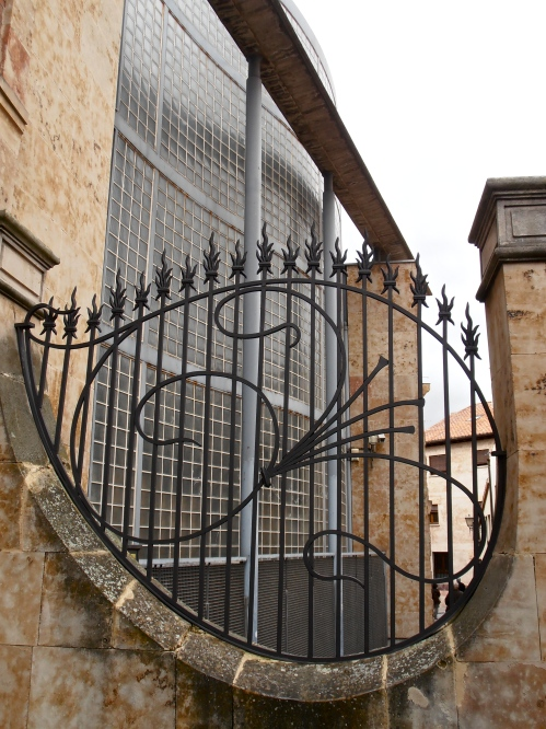 This lovely piece of wrought ironwork belongs to Casa Lis, the city's Art Nouveau Museum