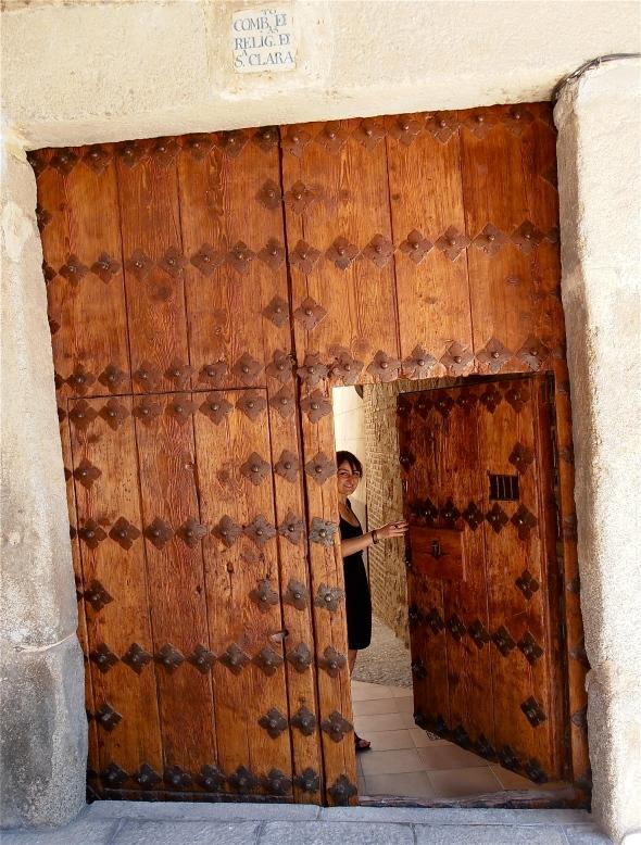 Nice Door. Held open by Catalina.