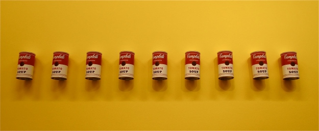 Soup cans. Photo taken in the Museum shop, not the exhibition itself. I was told off :(
