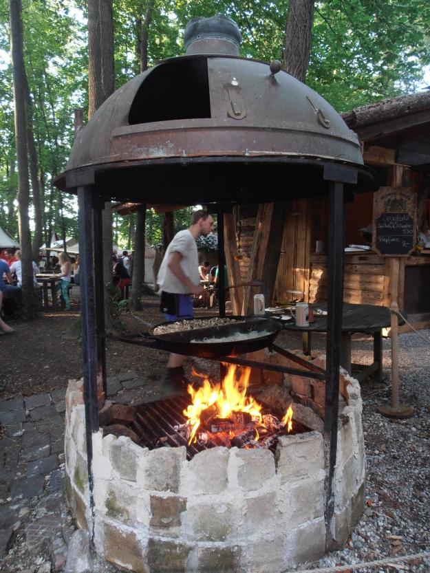 Fire roasting
