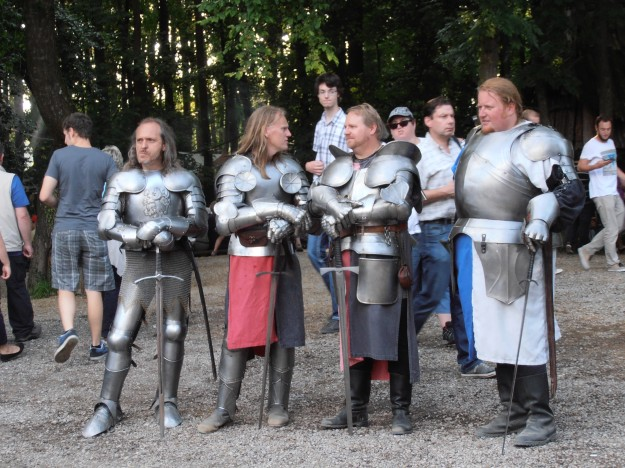A bunch of knights in shining armour