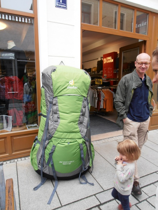 How about something (im)practical? This giant rucksack will accommodate three four-year-olds and a kitchen sink.