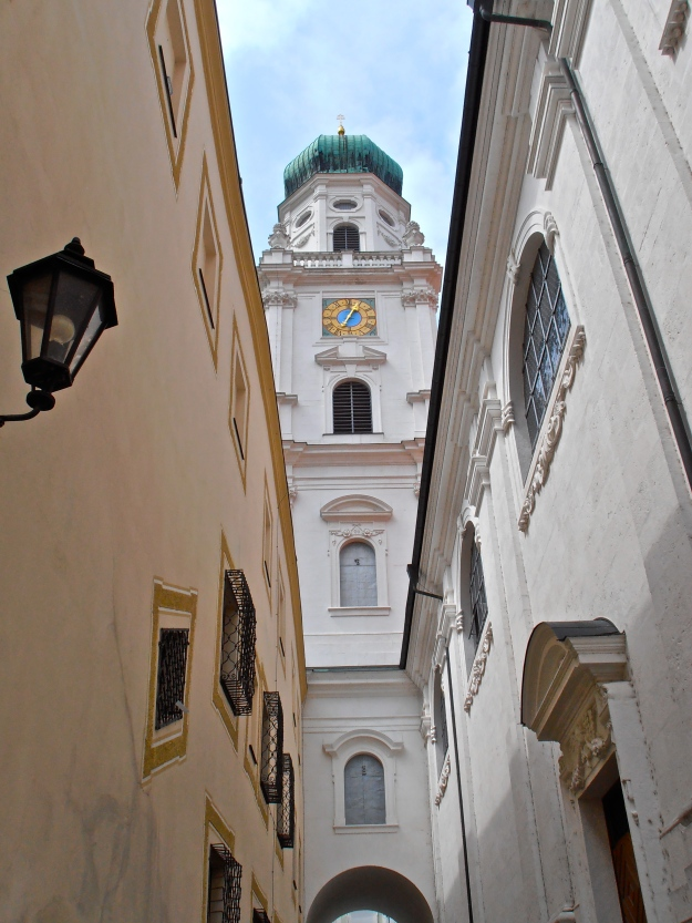 One of the spires of Passau cathedral
