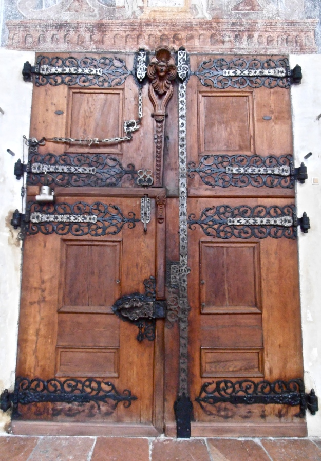 One of the entrance doors (interior view)