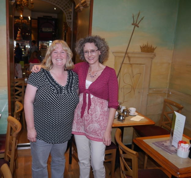 Simone and Karolyn in Patisserie Valerie