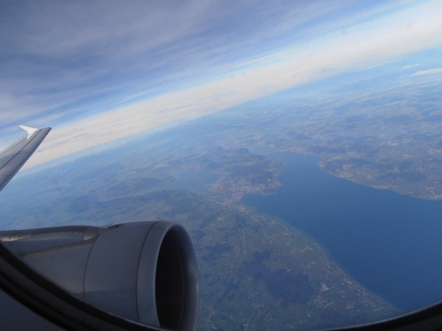 My first glimpse of ¨home¨: magnificent Lake Constance, where Switzerland, Austria and Germany meet
