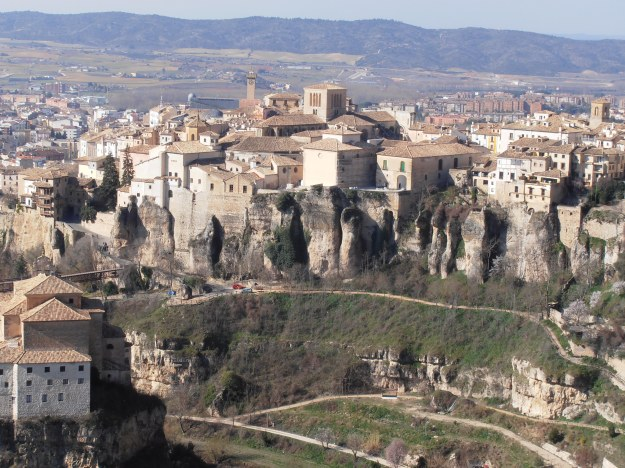 Cuenca's walls are a natural granite formation