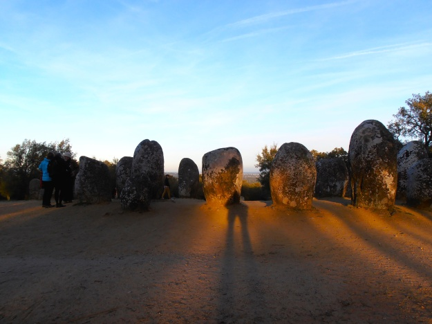 The Almendres Cromlech, a few miles from Évora. A megalithic complex erected 8,000 years ago, and pretty well preserved. We just made it in time for sundown.