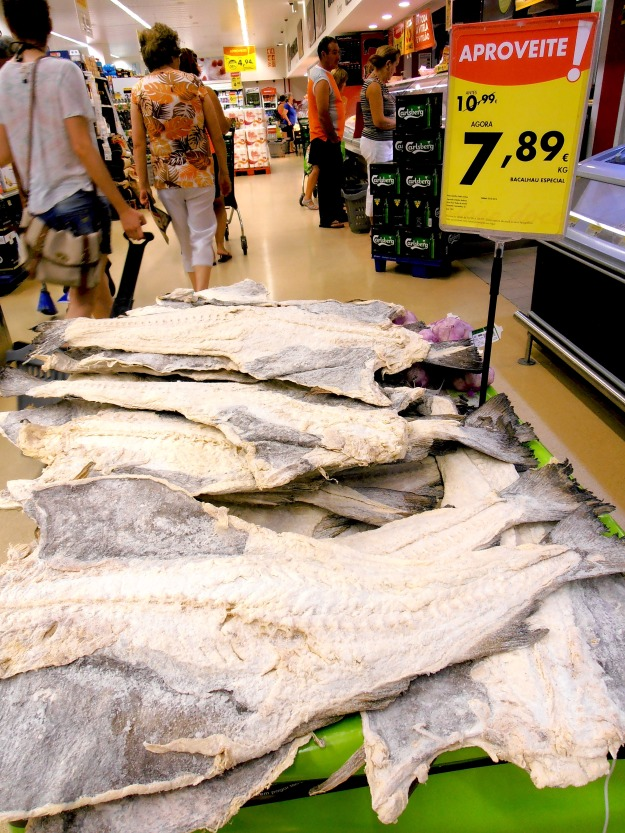 Salt cod (bacalhau) on offer at the supermarket we can never ever go back to