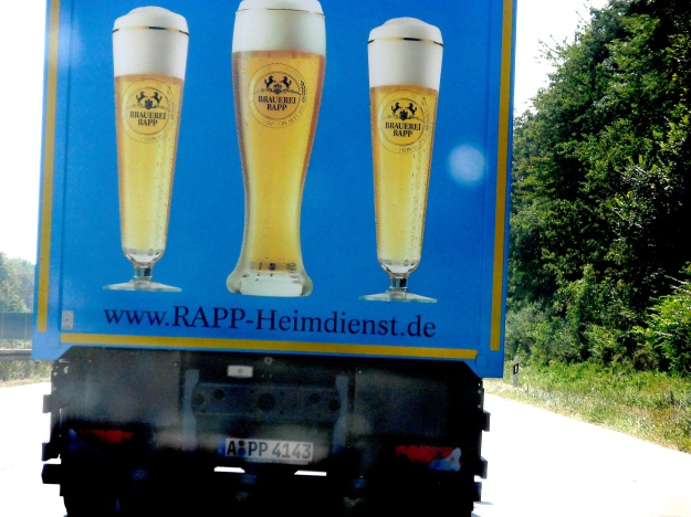 Within ten minutes of hitting the Autobahn, we got stuck behind this vehicle... but who could possibly mind?!